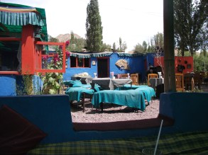 This was one of our favourite eateries. It had cushions to lounge on rather than chairs.