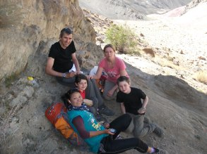 Here we are gathering our energy before climbing to 4000m.