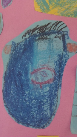I like the way he has shaded blue, very Picasso