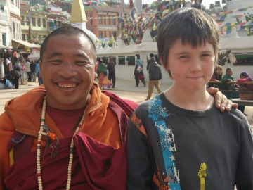 Friendly monk; Jacob just about holding it together