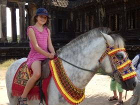 So louise got to trot aroun Ankor Wat
