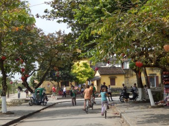 Very flat roads made cycling Hoi An a pleasure, that plus the 'no car' streets.
