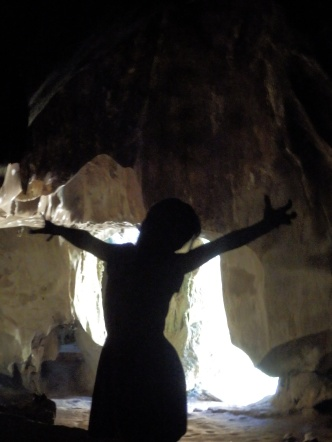 Performance in the cave.