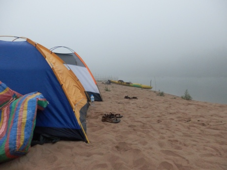 Second night we pitched our camp on a sand bar.