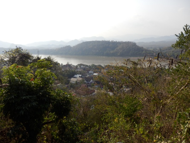 View of the Mekong from hill top Wat.