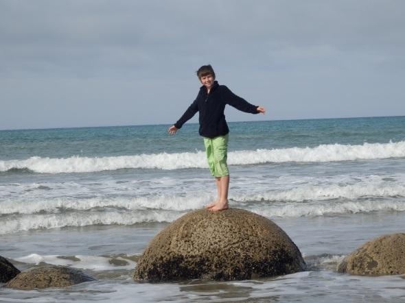 Funny rock beach