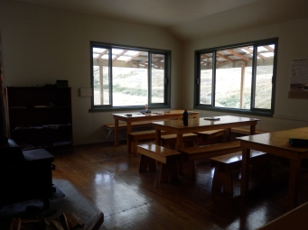 Dining area in super delux hut.