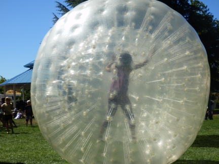 Zorbing ball, I want one.